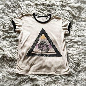 Mighty Fine | Zodiac Moon Triangle Ringer T-Shirt